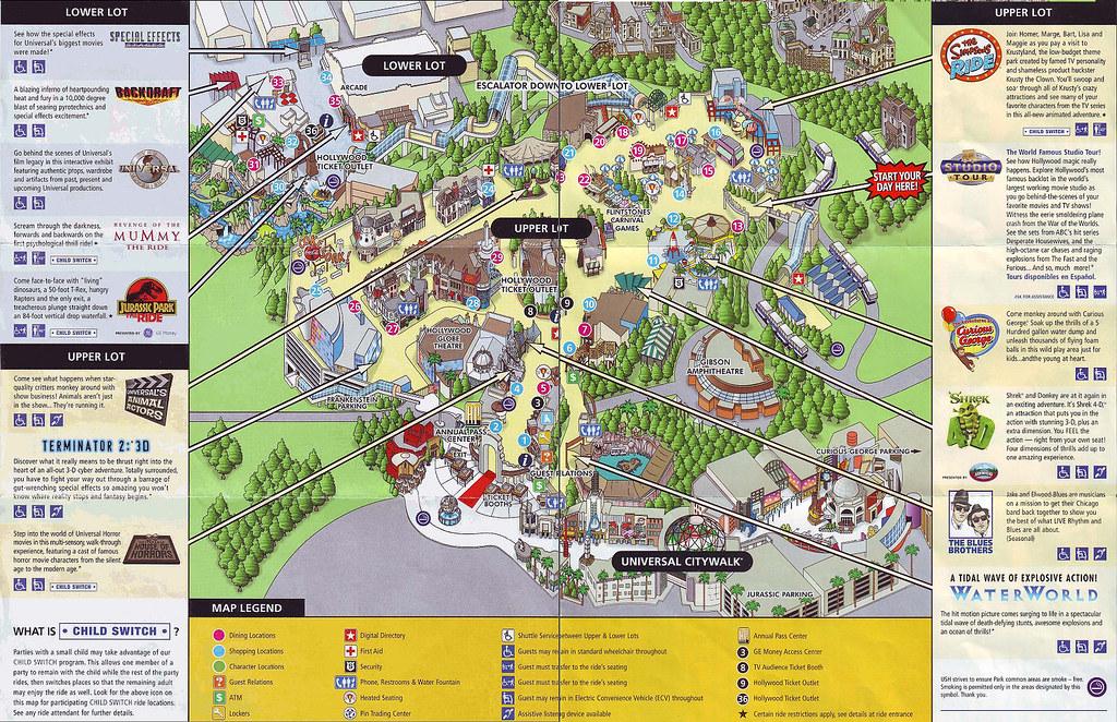 Universal Studios Hollywood California Map daleandana Flickr