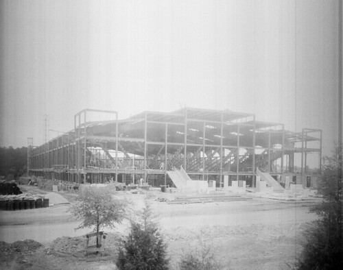 N_53_16_4977 State College Coliseum Under Construction | by State Archives of North Carolina