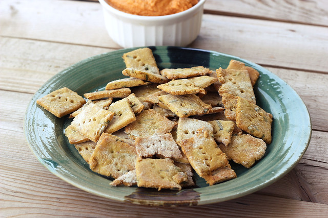 Spicy Chickpea Crackers with Chives - Gluten-free + Vegan