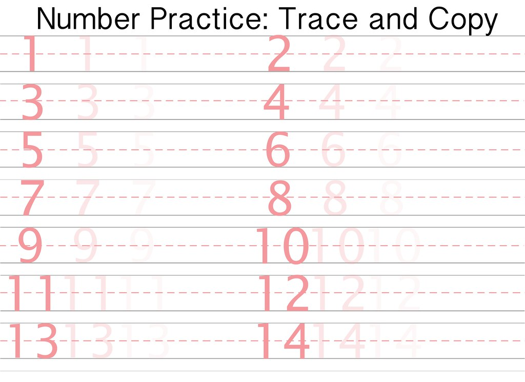 Free printable number writing practice sheet | Sidther\'s Printables ...