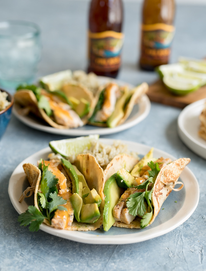 Mango Coconut Chicken Tacos www.pineappleandcoconut.com #ad #worldmarkettribe #tacotuesday