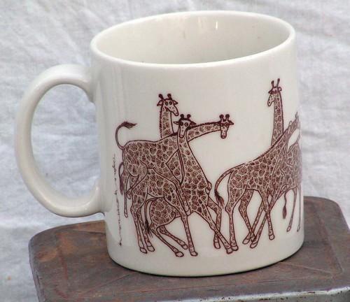 Naughty Giraffe Mug Taylor  Ng Animal Orgy Rare 1979 Retr -8117
