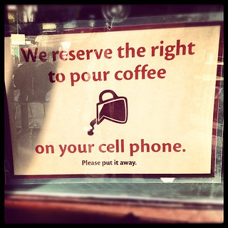 We reserve the right #coffee #diner #cellphone #sf | by calitexican