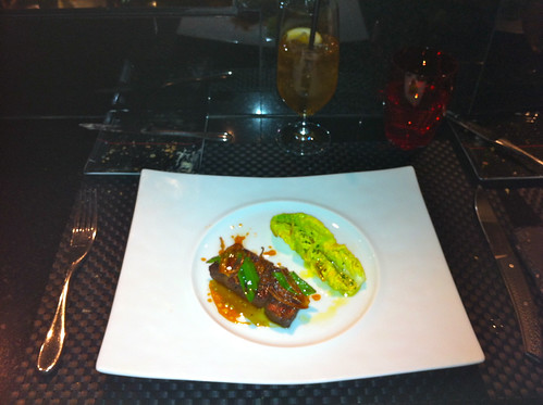 Hangar steak | With shallots and sweet dill lettuce under ol ...
