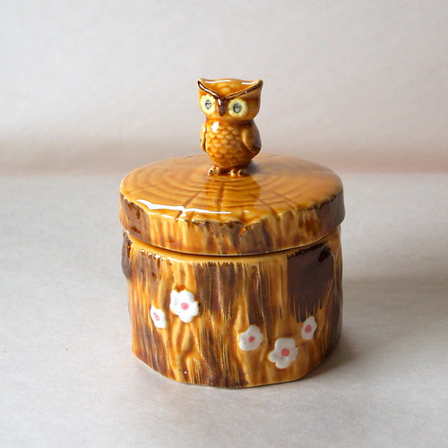 Vintage Owl Kitchen Decor: OWLDORABLE VINTAGE OWL // 1970's // Owl // Honey Pot // Re