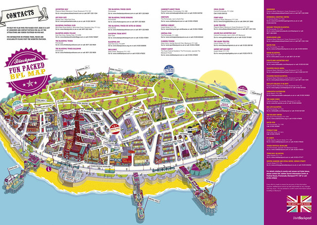Illustrated Maps for Theme Parks Attractions Tourism Cities