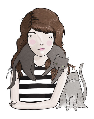self portrait with cats | by olivia mew