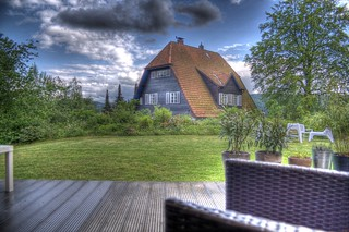 garden view and neighbor´s house HDR | by HerrLard