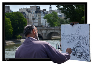 Paris - Over the artist´s shoulder | by Ron.Jansen