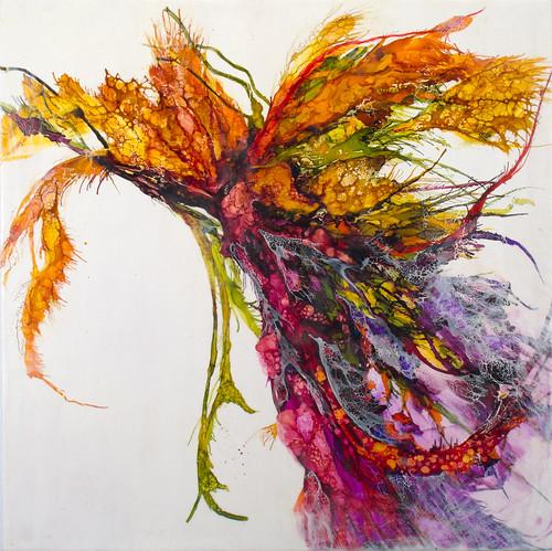 Large floral form floral form encaustic 24 x 24 www for Best website for canvas prints