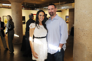 "Dawn Neufeld, a star on VH1′s ""Football Housewives"" with husband, Ryan, Jordan Winery's 4 on 4 Dallas Art Competition Hosted by D Magazine at Rising Gallery 