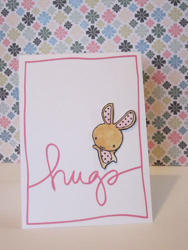 bunny hugs card | by paperologizt