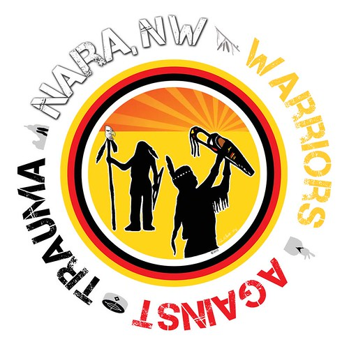 "NARA, NW: 2012 National Children's Mental Health Awareness Day ""Warriors Against Trauma"" Shield. 