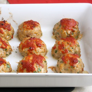 Baked Chicken Meatballs | by Tracey's Culinary Adventures