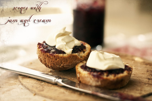 AGA scones with jam and cream | by lilhouseonthehill