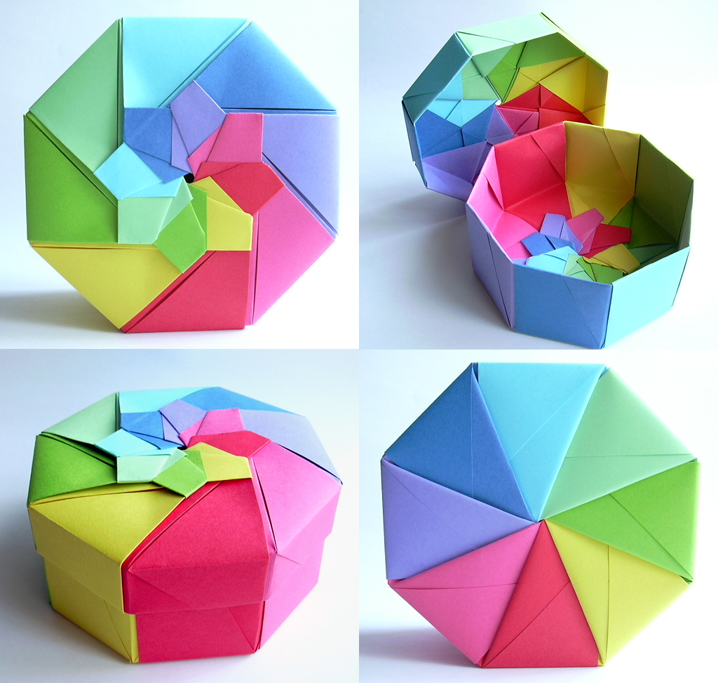 Rainbow Octagonal Flower Top Box Tomoko Fuse 120g M Pap Flickr Origami Boxes S By Dahlia K