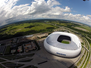 Kite Above The Allianz Arena football stadium in the north of Munich, Bavaria, Germany | by Wind Watcher