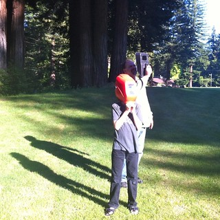 Watching the Eclipse 2012 with the welding helmet | by lizaleemiller