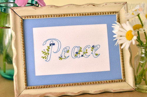 """Peace"" by Clementine Patterns 