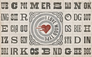 SPECIMEN WALLPAPER »I ❤ Wood Type« (for widescreen displays) | by arnoKath