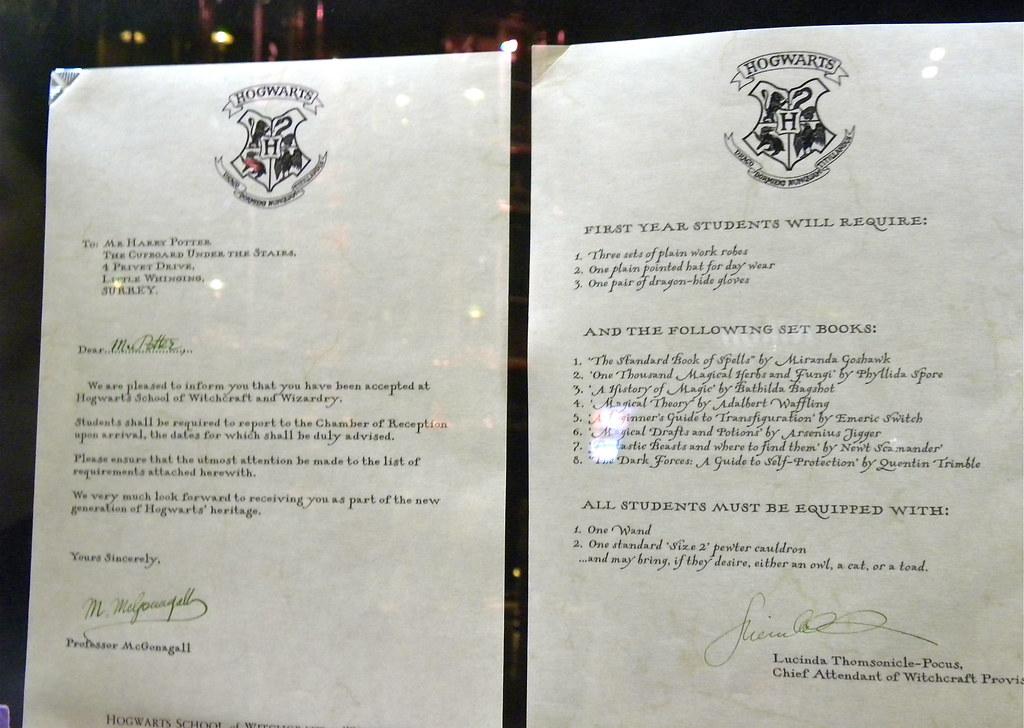 Harry potter studio tour harrys letter inviting him to h flickr harry potter studio tour harrys letter inviting him to hogwarts by rev stan stopboris Images