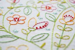 May Flowers - detail | by Carina » Polka & Bloom