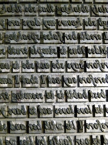 Letterpress type for printing Shakespeare Sonnet print (2) | by typoretum