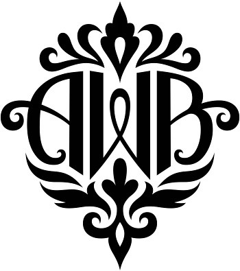awb damask design a custom design of the initials awb flickr