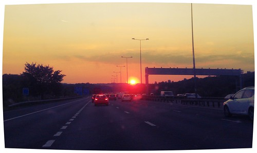 Sunset on the M25 | by gsol