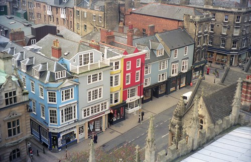 Oxford | Colorful buildings as seen from the top of The ...