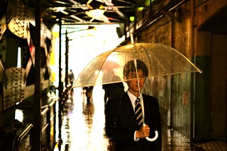 Rainy day for a salaryman | by tokyoshooter