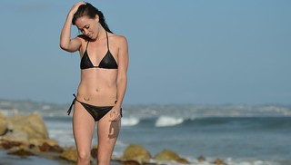 Nikon D800 Photoshoot of Bikini Swimsuit Fitness Model in Malibu | by 45SURF Hero's Odyssey Mythology Landscapes & Godde