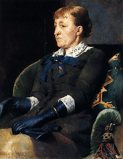 Backer, Harriet (1845-1932) - 1883 Portrait of the Artist Christine (Kitty) Lange Kielland | by RasMarley