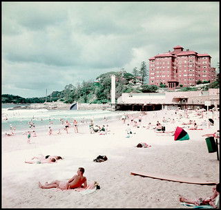 1959 Beach scene at Manly New South Wales | by Degilbo on flickr