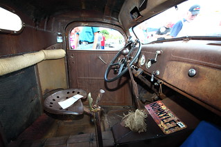 Inside the vintage car | by bukharov