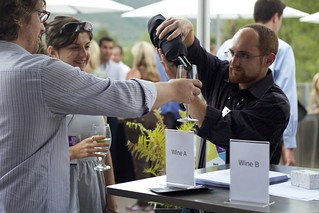 Coco and Ben running the wine experiment | by ericrossrosenbaum