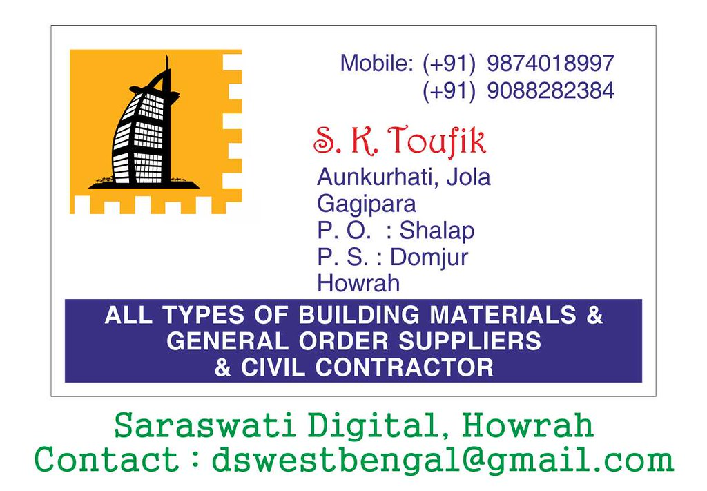 Visiting Card For Contraction
