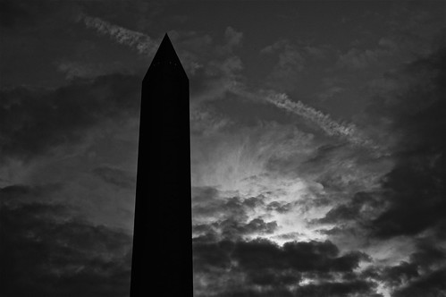 Washington Monument on drive home from work | by wolfkann