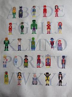 Superhero Alphabet Sampler | by jacqueline | weelittlestitches