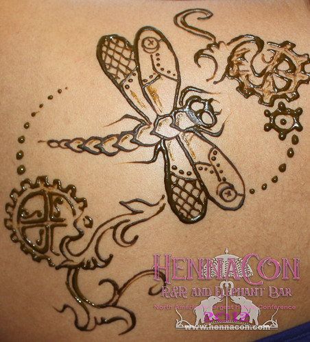 Henna Tattoo Winnipeg : Dragonfly steampunk tattoo winnipeg henna hasina mehndi