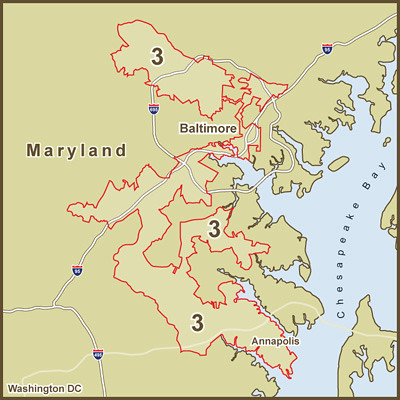 A Map of the Strange Borders of Marylands Congressional D Flickr