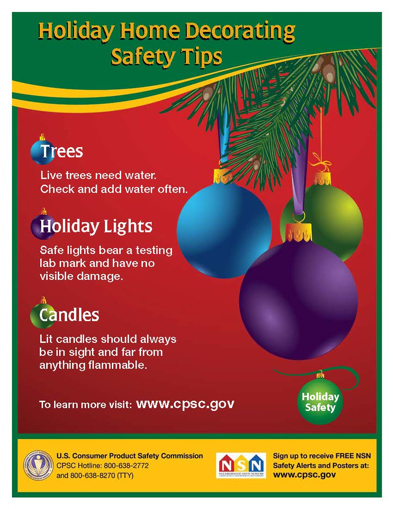 holiday home decorating safety tips by uscpsc - Christmas Decorating Safety Tips