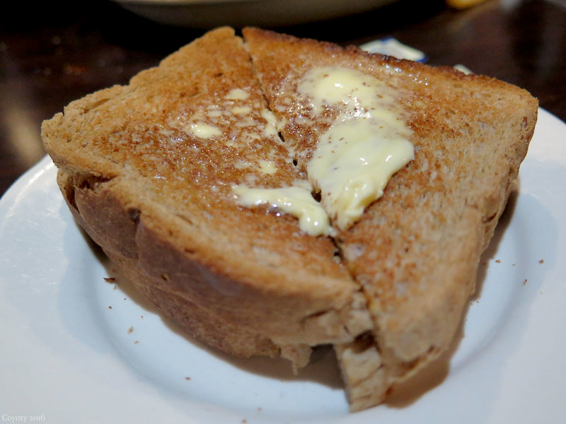 Buttered wheat toast