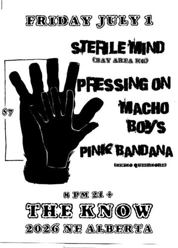 7/1/16 SterileMind/PressingOn/MachoBoys/PinkBandana