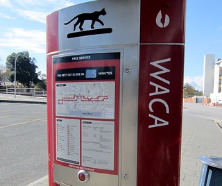 Perth Red CAT bus stop | by Daniel Bowen