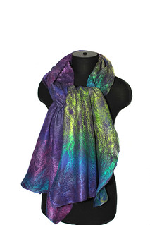 Felted Cobweb Scarf Wrap | by FeltedPleasure