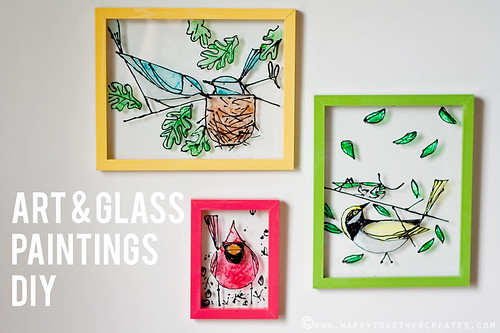 Art & Glass Painting DIY | by ohsohappytogether