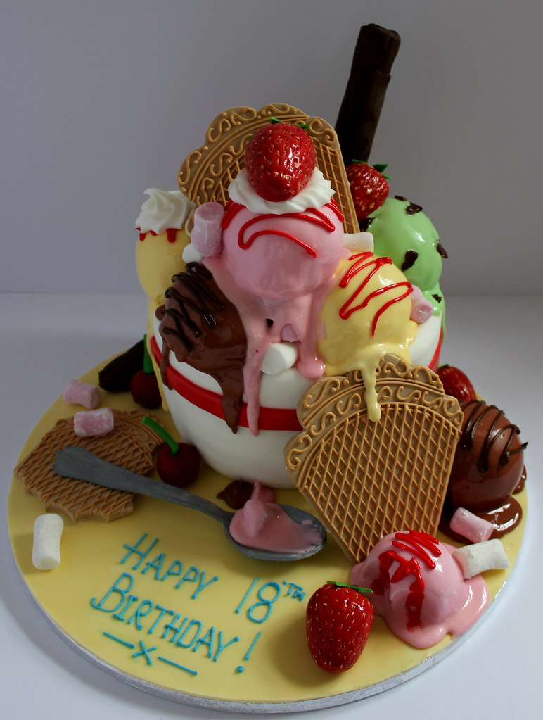 Ice Cream Sundae Birthday Cake Pauls Creative Cakes Flickr