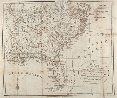 1792 map of the States of Virginia, North Carolina, South Carolina and Georgia | by National Library of Scotland