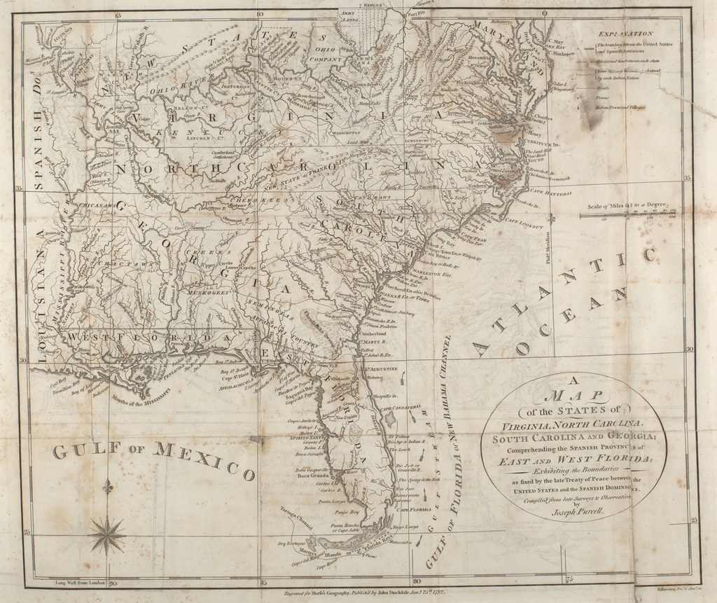 1792 map of the States of Virginia North Carolina South   Flickr